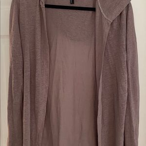 New long sleeve cardigan with hood